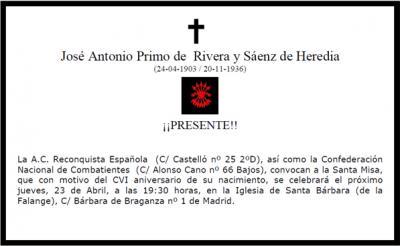 Misa por Jose Antonio Primo de Rivera